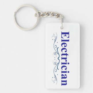 Electrician Double-Sided Rectangular Acrylic Key Ring