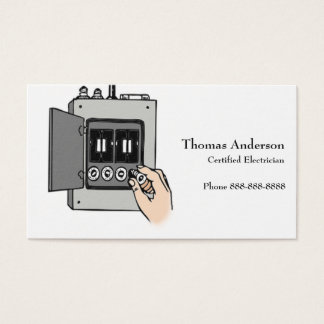 Electrician Electric Company Business Card