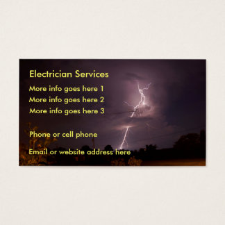 Electrician electrical lightning Business Card