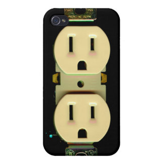 Electrician electrical outlet fun unique custom covers for iPhone 4