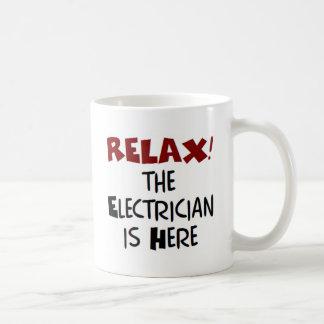 Electrician here coffee mug