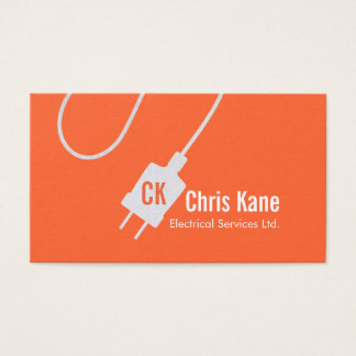 electrician logo design business business card