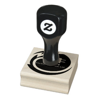 Electrician logo design rubber stamp