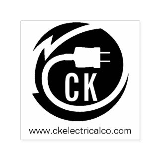 Electrician logo design self-inking stamp