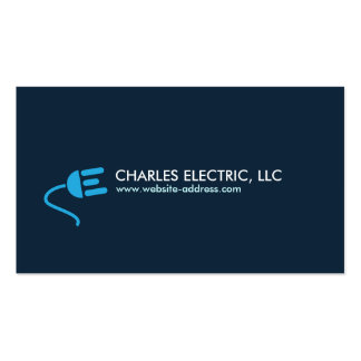 ELECTRICIAN LOGO MODERN BUSINESS CARD IN BLUE