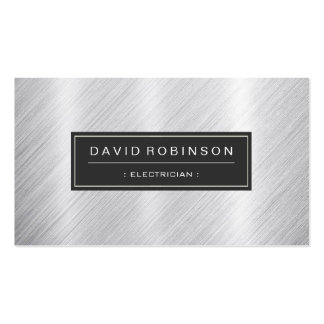 Electrician - Modern Brushed Metal Look Pack Of Standard Business Cards