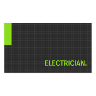 Electrician- Multiple Purpose Green Pack Of Standard Business Cards