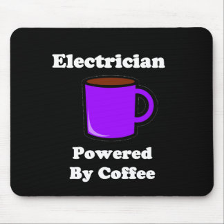 """""""Electrician"""" Powered by Coffee Mouse Pad"""