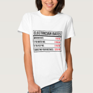 Electrician Rates Funny T-Shirt