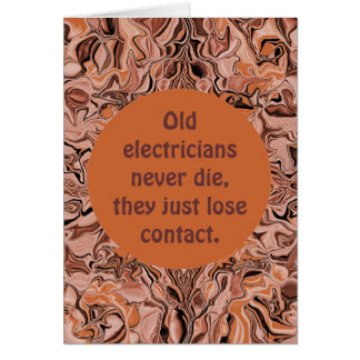 electrician retirement cards