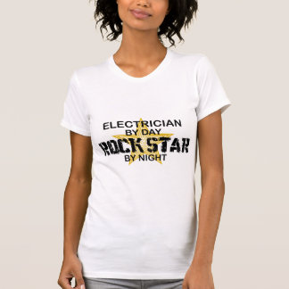 Electrician Rock Star by Night Shirt