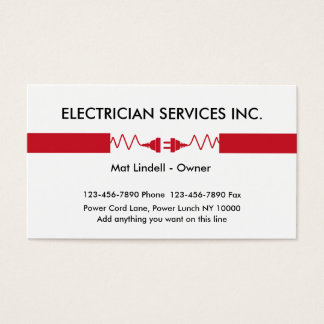 Electrician Service Business Cards