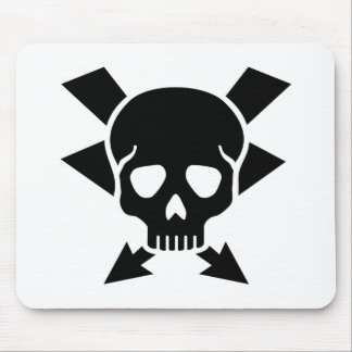 Electrician skull mouse pad