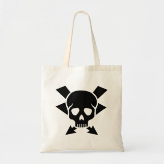 Electrician skull tote bag