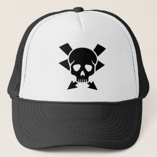Electrician skull trucker hat