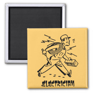Electrician Square Magnet