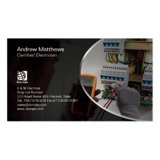 Electrician Test Electrical Circuits Business Cards