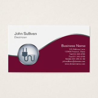 Electrician Trade Skills Elegant ElectricPlug Icon Business Card