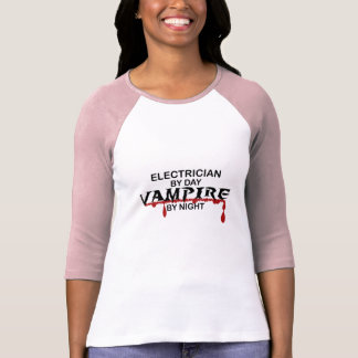 Electrician Vampire by Night T-Shirt