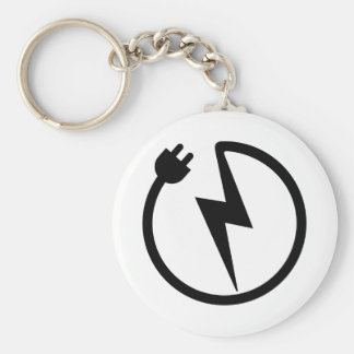Electrician wire basic round button key ring