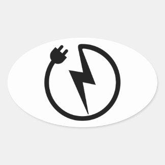 Electrician wire oval sticker