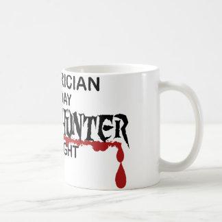 Electrician Zombie Hunter Coffee Mug