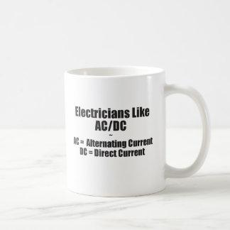 Electricians Like AC/DC Basic White Mug
