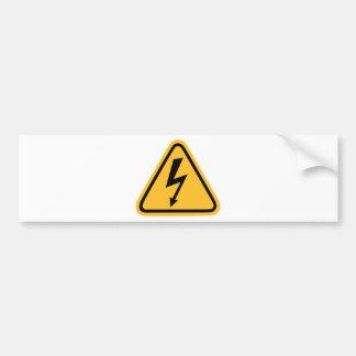 Electricity flash bumper sticker