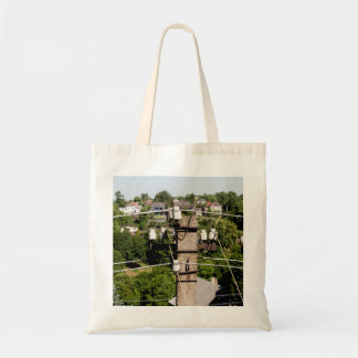 Electricity pole tote bag