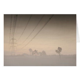 Electricity pylons and cables running card