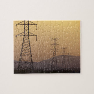 Electricity pylons jigsaw puzzle