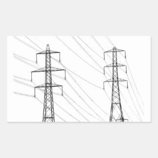 Electricity pylons rectangular sticker