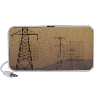 Electricity pylons portable speaker