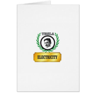 electricity tesla card