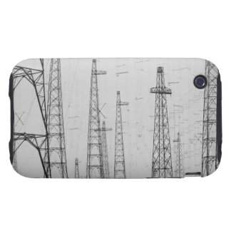 Electricity towers, Howick, Northumberland iPhone 3 Tough Case