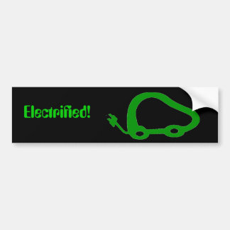 ElectricVehicleFriendly, Electrified! Bumper Sticker