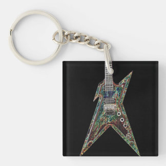 Electrified Guitar Key Chain