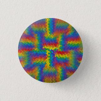 Electrified Rainbow 3 Cm Round Badge