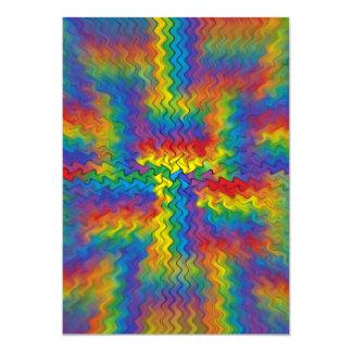 Electrified Rainbow Card
