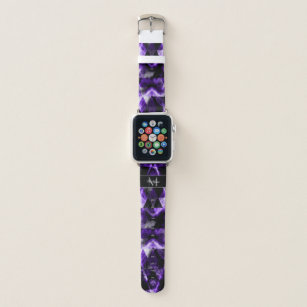Electrifying purple violet sparkly Monogram Apple Watch Band