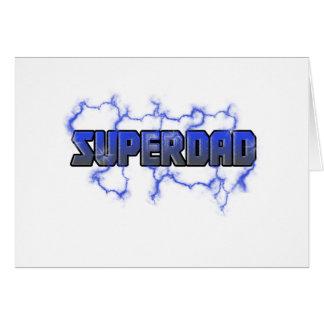 Electrifying Superdad Card