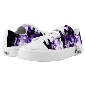 Electrifying ultra violet purple sparkly triangle low tops