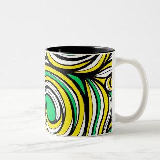 Electrifying Up Fearless Composed Two-Tone Mug