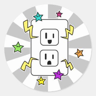Electro Cutie Round Sticker