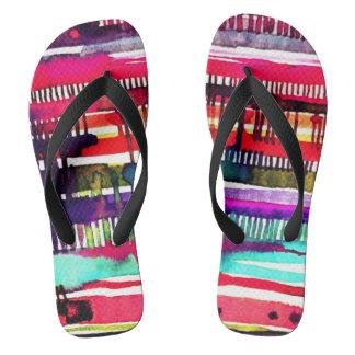 electro drip unisex flip flops
