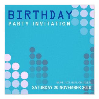 Electro House Party Birthday Invitation