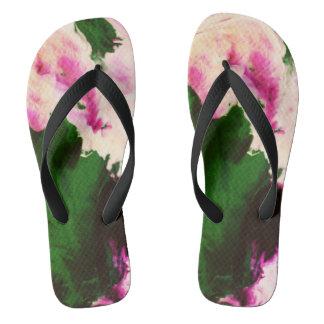 electro mossy unisex flip flops