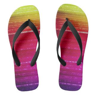 electro rainbow unisex flip flops