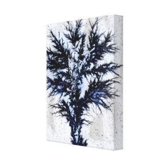 Electro Tree. Stretched Canvas Print
