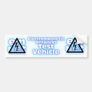 Electromagnet Networks Test Vehicle Bumper Sticker